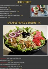 Menu Valentino - Les entrées, les salades repas et les brushettas