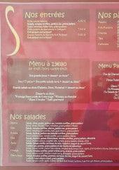 Menu Le jardin du Palatin - Entrées, pâtes, menus,...
