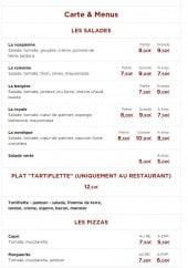 Menu Fonti - Salades, plats, pizzas