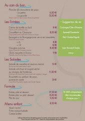 Menu Le Maurey - Entrées, salades, formules,..