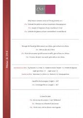 Menu l'Ecu - les menus à 24€