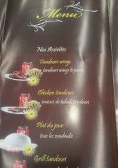 Menu Sharu Mahal - Le menu