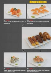 Menu Sushi Kokyou - Les menus mixtes