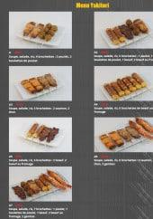 Menu Sushi Kokyou - Les menus yakitori