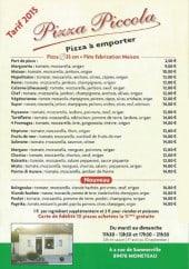 Menu Pizza piccola - Les pizzas