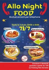 Menu Allo Night Food - Carte et menu Allo Night Food Belfort