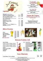 Menu Au Caquelon - Les apéritifs et softs