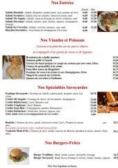 Menu Au Caquelon - Les entrées, les viandes, les spécialités et les burgers