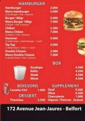 Menu Chez- kader - Boissons, desserts, box,...