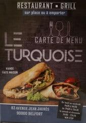 Menu Le turquoise - Carte et menu le turquoise belfort
