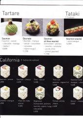 Menu Naka naka - Les tartares et californias