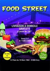 Menu Food street - Carte et menu Food street Evry