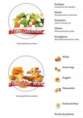 Menu Le Royal - Les salades et tex mex