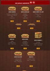 Menu Max Food - Menus sandwichs