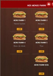 Menu Max Food - Menus paninis