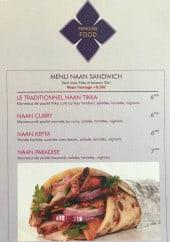Menu Paradise food - Le menu naan sandwiches