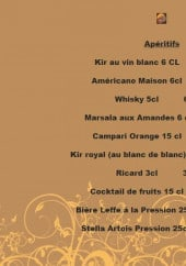 Menu Foggia Ristorante - Les apéritifs