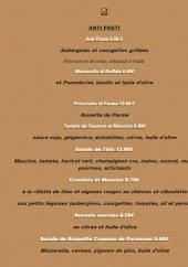 Menu Foggia Ristorante - Les antipastis
