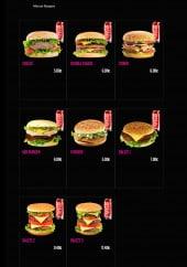 Menu La Cantine - Les burgers