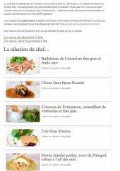 Menu La Ciboulette - Ballottines de canard au foie gras et fruits secs ...