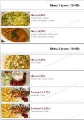 Menu Pak Food - Les menus