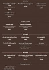 Menu Restaurant le gourmet - Les entrées, salades, grillades,...