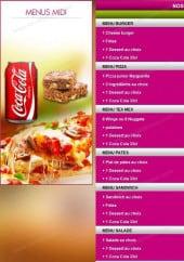 Menu Del Casa Pizza 91 - les menus midi