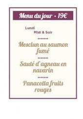 Menu Blanche de Castille - Le menu du jour