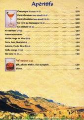 Menu Riad Fes - Les apéritifs