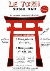 Menu Le Torii - Carte et menu Le Torii Crosne