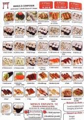Menu Le Torii - Les menus à composer
