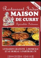 Menu Maison du Curry - Menu à la carte