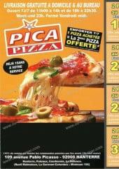 Menu Pica Pizza - Carte et menu de Pica pizza à Nanterre