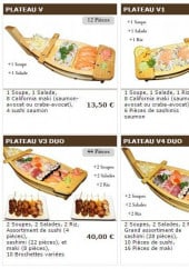 Menu Sushi wako - Les plateaux