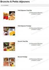 Menu Chez Elle Gourmet - Les brunchs et petits déjeuners