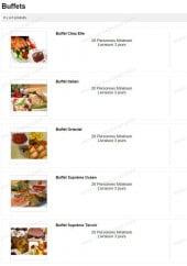 Menu Chez Elle Gourmet - Les buffets