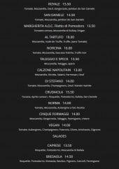 Menu Fratelli Pastore - Pizzas suite