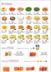 Menu Infinity Sushi - Entrees et menus