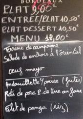 Menu La Taverne de Clamart - Un exemple de menu du jour