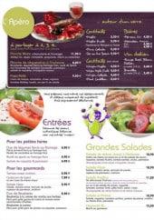 Menu Tutto Gusto - Les apéros, les entrées et les salades