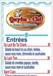Menu Chez Quyên-Chi - Entrées