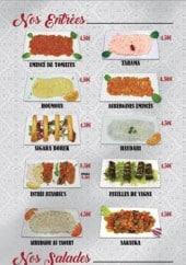 Menu Istanbul's Grill - Entrées, salades et soupes