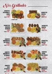 Menu Istanbul's Grill - Grillades, poissons et plats végétariens