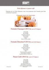 Menu SF Events - Petit déjeuner et pause café (entreprise)