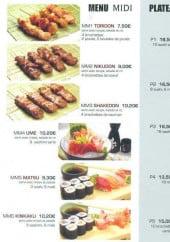 Menu Sushi antony - Les menus midi