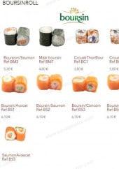 Menu Sushi goo - Les boursinroll