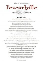 Menu L'Escarbille - Le menu à 53€