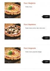 Menu Matteo Pizza - Les pizzas: Margherita , Napoletana ...