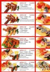 Menu Nomiya - Les menus suite 1