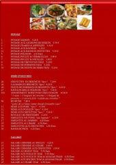 Menu Magnifique de Chine - les potages, hors d'oeuvres et salades